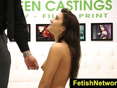 FetishNetwork Desirae Rose throat fucked