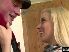 Blonde Nesty gets a huge cumload