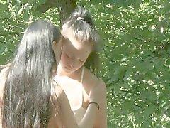 aux lesbiennes étudiants le tournage des rapports sexuels air