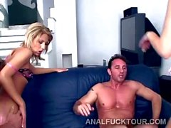 2 Gorgeous European sluts are ass pounded by 2 big thugs