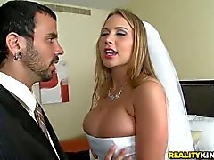 Big breasted bride Alanah Rae begs for sex