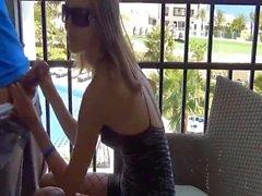 German Girl Has Anal Sex On Balcony