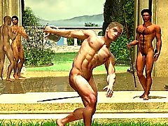 3D Fantasy Gays and Muscled Boys!