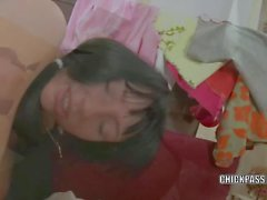 Darina gets her young ass and pussy pounded