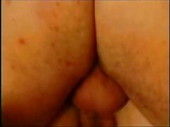 Fat granny blows dick and then gets both her holes nailed