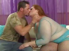 Blonde BBW Liana gets on top