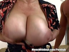 Fat Redhead Granny Deepthroats And Fucks Her Stepson