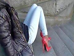 LGH - Tamia Public Extrem Klackar und Nylons