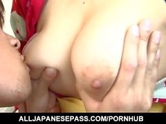 Anna Kousaka has big boobs touched and shaking during frigging
