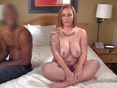 Big Tits Redhead BBW Surprised By Big Black Cock