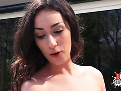 Hot pornstar deepthroat with cum on face
