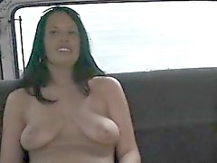 Pussy flashing amateur slut takes the sex bus