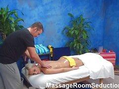 Blonde teen massage room hidden cam