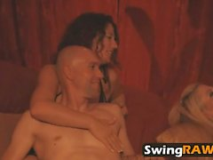 Amazing swinger party with kinky sex action