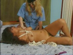 Laurie 2: Latina tied up with rope
