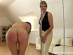 Naked Pandora Cropped, Spanked by Lady Sonia