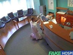 FakeHospital Petite redheads sexual skills makes doctor cum twice