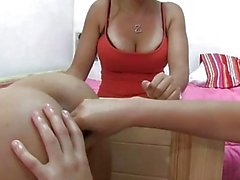 Horny lesbians fingering and licking