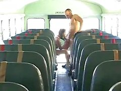Asian teen ramming in school bus