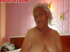 Old latina amateur granny with big boobs and big