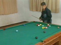 Hunks enjoy punk tranny carla voguel on pool table
