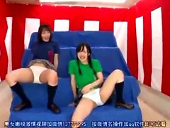 Japanese teen in uniform sucks jerks POV cock