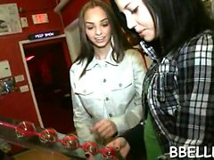 Hawt and wild blowjob session with wicked chicks