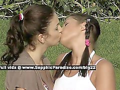 Billy and Isabella lovely lesbo girls teasing