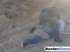 Border patrol babes love sharing cock fucking