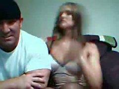 Awesome blonde girl eating huge cock and fucks - webcam porn