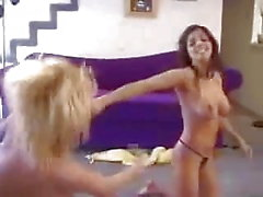 Blonde v Brunette Appartment Smother