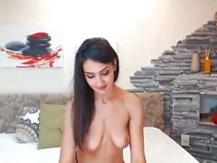 lustshows : Sexy brunette model sharing her pussy