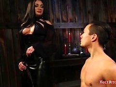 Mistress Fucks Male Slaves Ass
