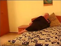 BBW Mature Fucked op Bed