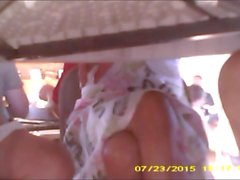 Two MILFs under table