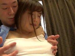 Japanische behaarte Fotze Fingersatz