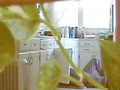 hiddencam - sex in kitchen fucking with the plumber