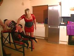 Sissy Caned by Master and Mistress
