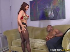Janet Mason Tries Mandingos Huge Black Cock