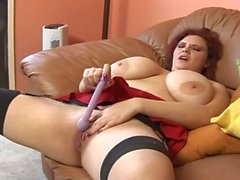 Redhead mature fucking BBC anal