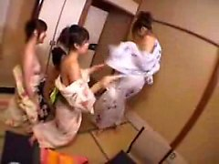 Horny Asian girls set up a lesbian encounter to explore the