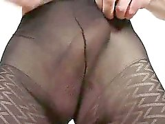 Incredible twink boy Clark having fun in pantyhose