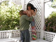 Hottie fucked in pergola