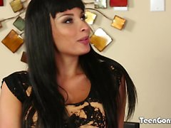 TEENGONZO Brunette Anissa Kate with big boobs riding dick