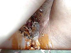 wax orgasm, enjoying my pussy with loud moaning