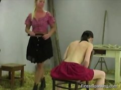 Sub is punished with a whip