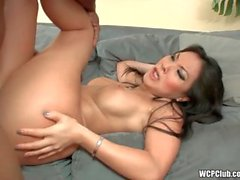 Asa taking a big black cock in her ass