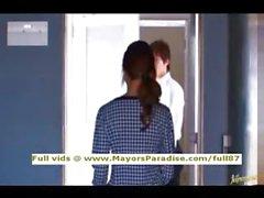 Акихо Ешизава невиновен Китайская девушка получает киска облизываемая