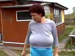 tits Big grandma saggy