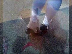 BBC interracial footjob, feet and high heels video COMPILATION LittleMiss25